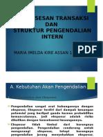 Ppt Pemrosesan Transaksi Dan Struktur Pengendalian Internal