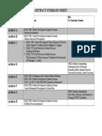 capstone - artifact summary sheet
