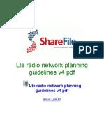 Lte Radio Network Planning Guidelines V4 Pdf