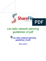 Lte Radio Network Planning Guidelines v4 PDF