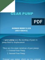Gear Pump Sudhir Reddy S.v.R