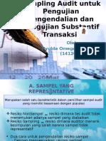 Sampling Audit untuk pengujian pengendalian dan pengujian substantif transaksi