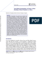 The Geo-Social and Global Geographies of Power