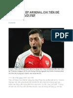 Oezil Thúc Ép Arsenal Chi Tiền Để Đối Trọng Với Pep