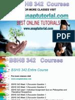 BSHS 342 Academic Success /Snaptutorial