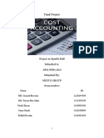 Cost accounting project