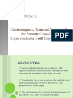 Electromagnetic Transient Analysis of the Saturated Iron Core Super Conductor Fault Current Limiter