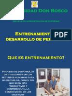 Entrenamiento y Desarrollo Del Personal