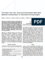 The Effect That Time, Touch and Environment Have on Bacterial Contamination of Instrument