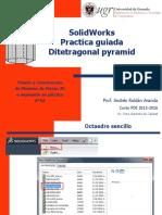 Solidworks Practica Ditetragonal Pyramid