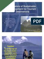 Indicators for Tourism Development
