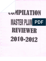 Master Plumbing Reviewer 2010-2012