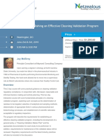 Requirements for Establishing an Effective Cleaning Validation Program