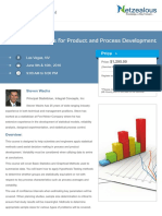 Statistical Methods for Product and Process Development