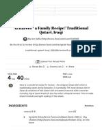 Al Harees - A Family Recipe! Traditional Qatari, Iraqi Recipe - Food