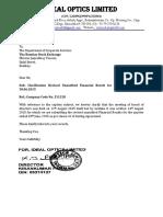 Revised Financial Results for June 30, 2015 [Result]
