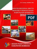 Produk Domestik Regional Bruto Kabupaten Bombana Menurut Penggunaan 2010 2014 Tahun Dasar 2010
