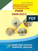PDRB Kabupaten Wakatobi 2009 2013 Menurut Lapangan Usaha
