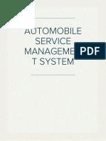 AUTOMOBILE SERVICE MANAGEMENT SYSTEM