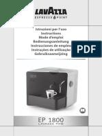 Lavazza EP1800 - Instructions Manual