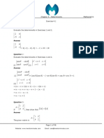 IIT level Matrices worksheet with solution