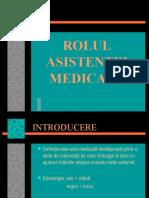 Introducere. Rolul Asistentei Medicale.