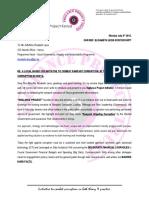 Letter to Elizabeth Leiss GIZ Kenya