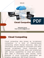 Seminar Report on cloud computing