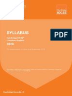 GCSE Literature Syllabus