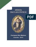 Cifra Ofício Da Imaculada Conceição