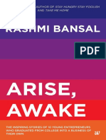 Arise, Awake the Inspiring Stories of Young Entreprenem College Into a Business of Their Own - Rashmi Bansal