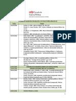 Cronograma Ayudantías Introducción a La Ciencia Política (S2)