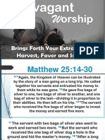Extravagant Worship Brings Forth Your Extravagant Harvest, Favor and Success - Pstra Salome 01272016