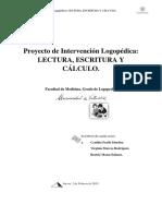 Proyecto de Intervención Logopédica en Lectura, Escritura y Cálculo.
