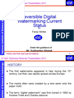 Reversible Digital Watermarking Current Status