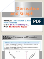 First Derivative and Graph