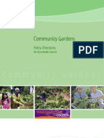 Community Gardens Policy Directions for Marrickville Council