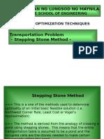 Stepping Stone Method