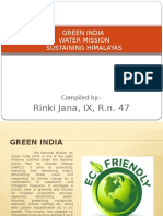 Water Mission, Sustaining Himalayas, Green India (Rinki Jana)