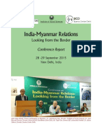 India-Myanmar Relations Looking From the Border