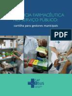 Cartilha Assistencia Farmaceutica No Servico Publico
