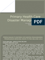 Primary Health Care Disaster Management
