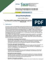 Pathologie der Onychomykose