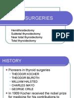 Thyroid Surgeries