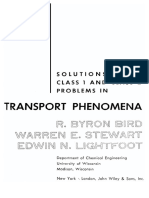 Solution to Transport Phenomena- R BYRON BIRD
