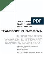 Solution to Transport Phenomena- R BYRON BIRD