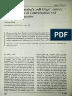 Heinz von Foerster's Self Organization, the Progenitor of Conversation and Interaction Theories