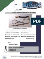Caidas - Doble Linea de Vida Cable de Acero ULTRA SAFE