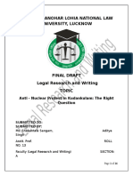 Legal Reasearch and Writing Project