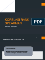 Korelasi Rank Spearman